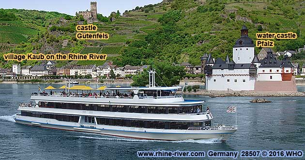 Rhine river cruises in Germany